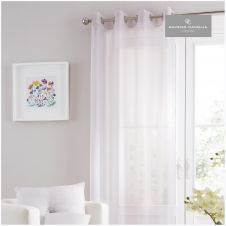 SWISS V-PILE PANEL CURTAIN 55X90 SILVER