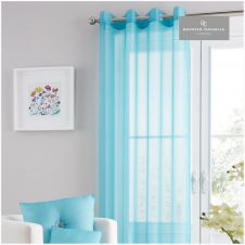 SWISS V-PILE PANEL CURTAIN 55X90 TEAL