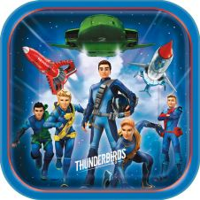 Thunderbirds 9 Inches Plates (Pack of 8)