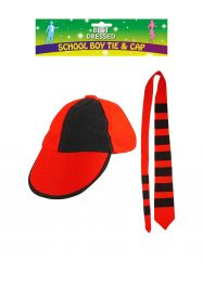 Tie And Cap School Boy Adult