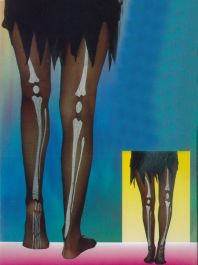 Tights Skeleton Print