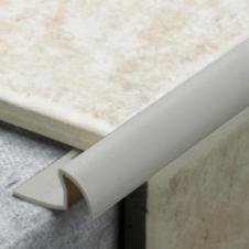 Tile Rite Grey PVC Tile Trim - 9.5mm x 2.44m