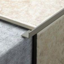 Tile Rite L Shape Grey Tile Trim - 2.44m x 10mm