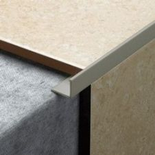 Tile Rite L Shape Grey Tile Trim - 2.44m x 12mm