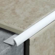 Tile Rite Tile Edging Deep White - 2.4m x 9.5mm
