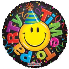 Time to Party Smiley Balloon (18inch)