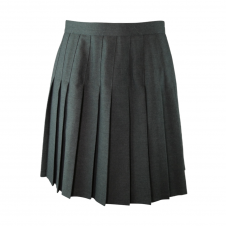 Top Stitched Pleated Skirt