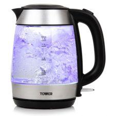 Tower Rapid Boil Glass Kettle 3kw - 1.7L