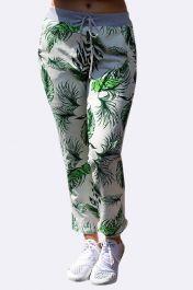 Tropical Print Pocket Drawstring Trouser