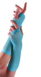 Turquoise Long Fishnet Gloves (Dozen)