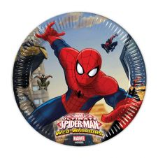 New Ultimate Spiderman Plates (Pack of 8)