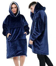 Ultra Plush Blue Blanket Hoodie