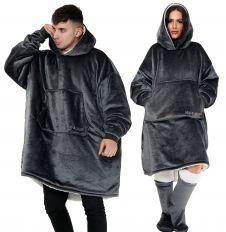 Ultra Plush Grey Blanket Hoodie
