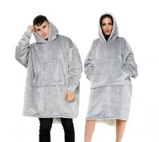 Ultra Plush Light Grey Blanket Hoodie
