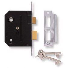 Union 2 Lever Mortice Lock - Chrome Finish - 2.5