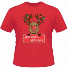 Unisex Christmas Dear Santa Define Good Printed T-Shirt