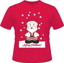Unisex Christmas Santa Printed T-Shirt