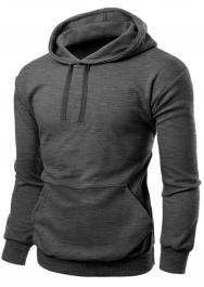 Unisex Fleece Pullover Charcoal Hoodie