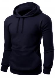 Unisex Fleece Pullover Navy Hoodie