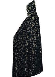 Unisex Golden Skull  Black Velvet Hooded Cape
