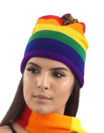 Rainbow Knitted Hat