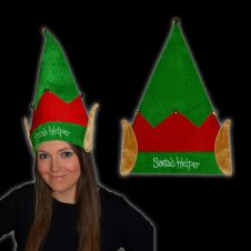 Velvet Santa Helper ELF Hat