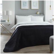 VELVET TOUCH BED SPREAD BLACK
