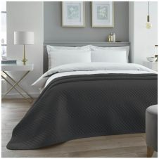 VELVET TOUCH BED SPREAD CHARCOAL