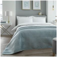 VELVET TOUCH BED SPREAD DUCK EGG