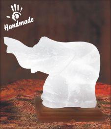 White Elephant Wisdom Ganesha Lamp