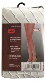 White Diamond Fishnet Tights