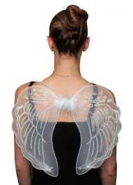 White Net Angel Wings Medium