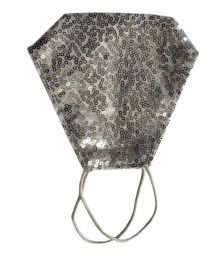 White Sequin Face Mask With Filter Pocket