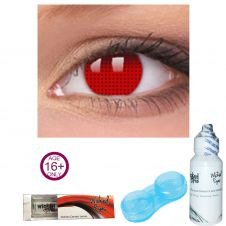 Wicked Eyes Red Mesh Contact Lense