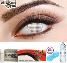 Wicked Eyes White Mesh Fashion Lense