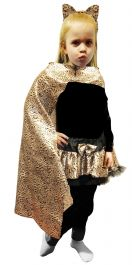 Wicked Fun Children Leopard Print Cape