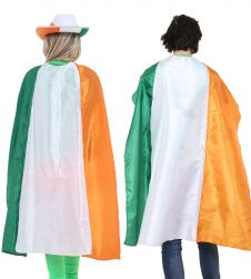 Wicked Fun Irish Flag Satin Cape