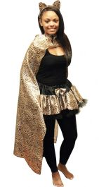 Wicked Fun Leopard Print Cape
