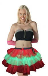 Women Green-Red TUTU Skirt