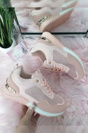 Women Panelled Tonal Chunky Trainers Pink