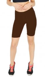 Womens ladies cycling shorts active wear Brown colour