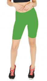 Womens ladies cycling shorts active wear jade Green colour