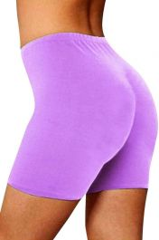 Womens ladies cycling shorts active wear Lilac colour
