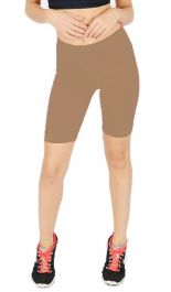 Womens ladies cycling shorts active wear Mocha colour