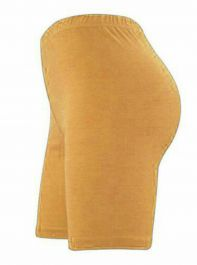 Womens ladies cycling shorts active wear Mustard colour