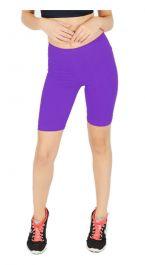 Womens ladies cycling shorts active wear Purple colour