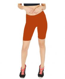 Womens ladies cycling shorts active wear Rust colour