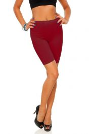 Womens ladies cycling shorts active wear Wine colour