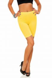 Womens ladies cycling shorts active wear Yellow colour