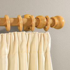 Woodside Beech Effect Wooden Curtain Pole - 150cm, 28mm diameter